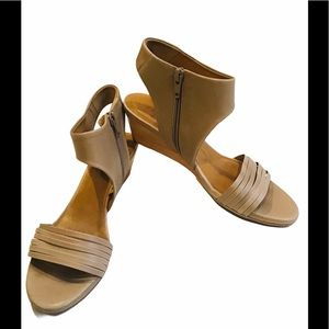 Coclico Wedge Ankle Strap Sandal, Sz 6
